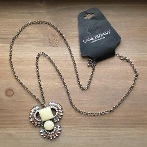 LAne bryant Long rhinestone linear necklace